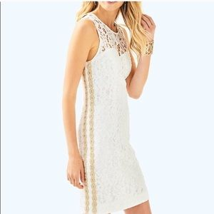 SALE Lilly Pulitzer Mila shift in white lace